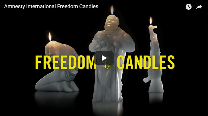 Still van clip over 'Freedom Candles' + link